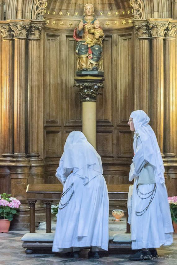 Nuns in the Chapel of Notre Dame du Pilier