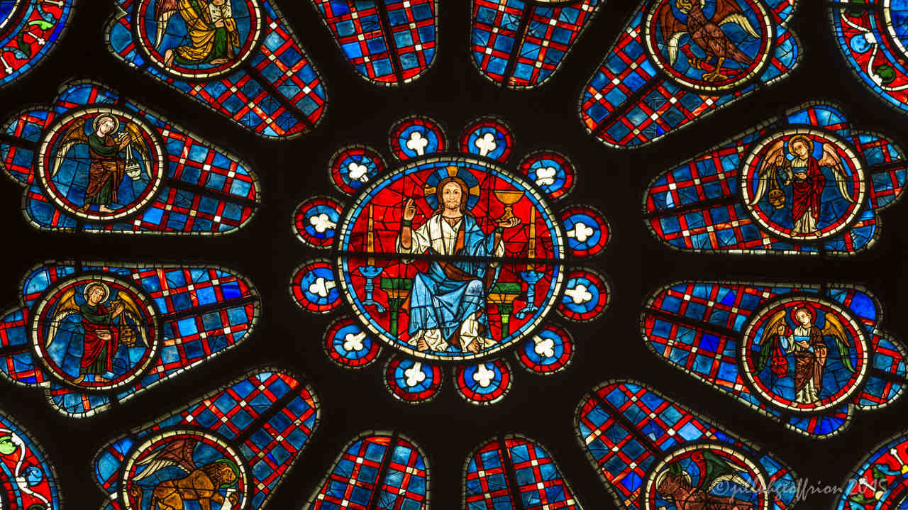 Center of the South Rose window
