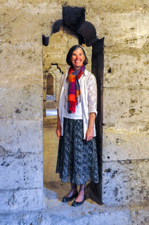 Standing in a cathedral doorway