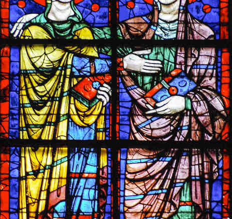 The Visitation, 13th century Apsidal window by Jill K H Geoffrion