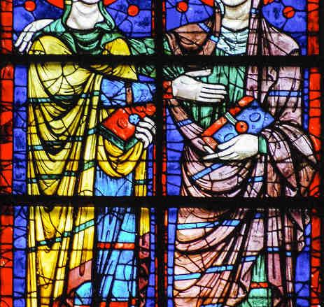 The Visitation, 13th century Apsidal window by Jill K H Geoffrion