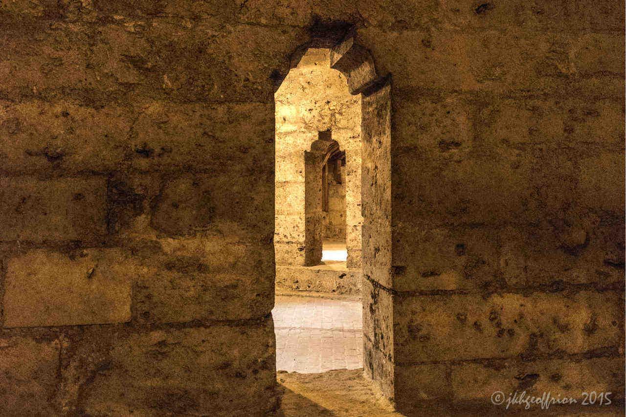 Doorways in the inner triforium