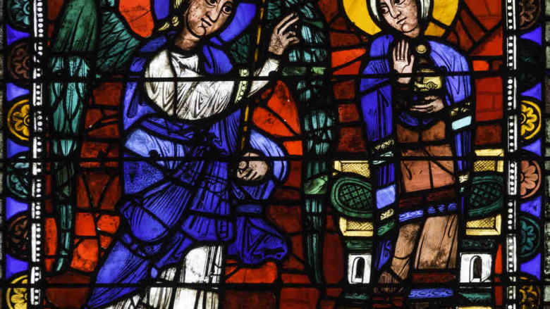 Annunciation, Life of Christ Window (1145-1155)