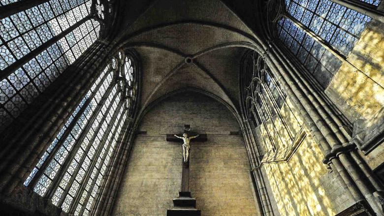 Crucifix in the sacristy
