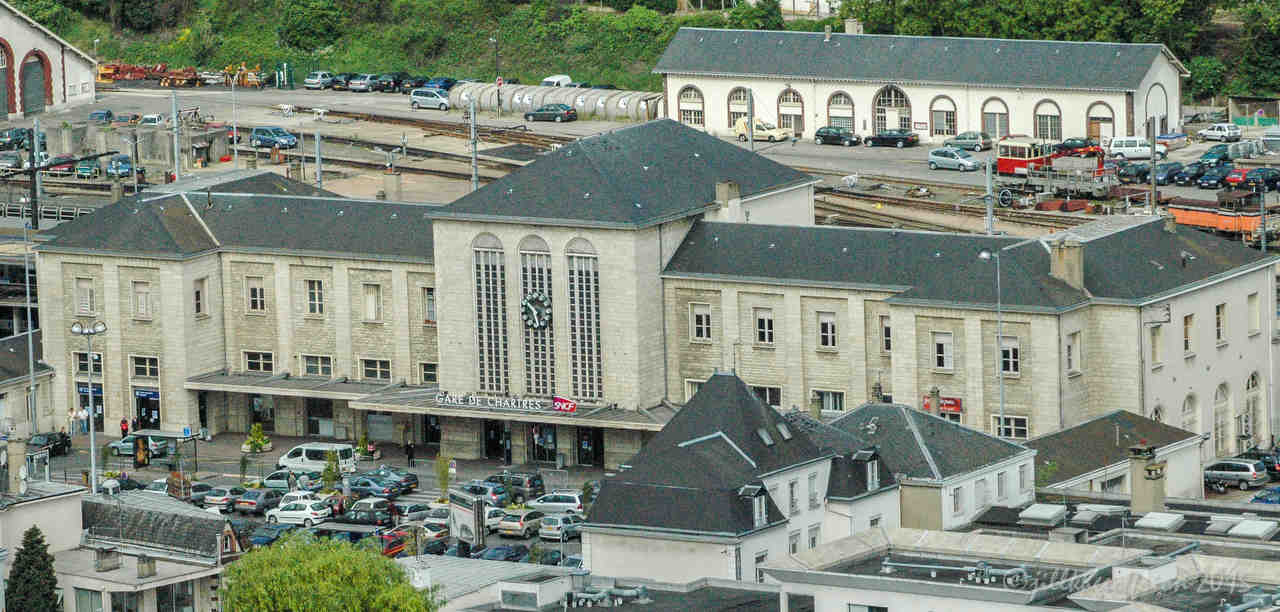 Train Station from above