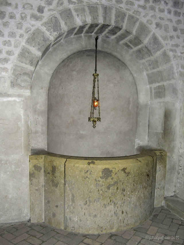 The well of the Holy Martyrs in the crypt
