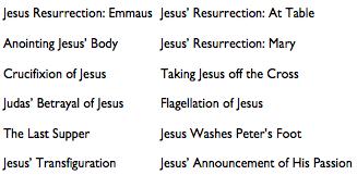 Description of the scenes in the Passion and Resurrection Window